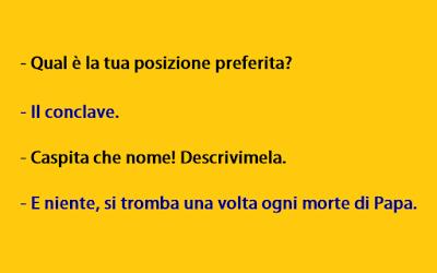 Immagine Divertente Posizione Del Conclave Si Tromba