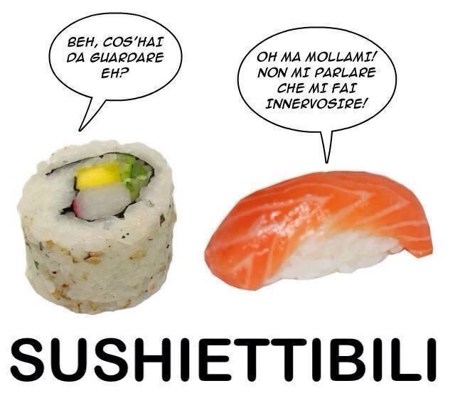 Sushiettibili il sushi migliore immagine per ridere for Foto divertenti gratis